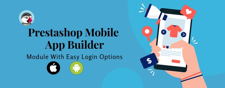 Prestashop Mobile App Builder - Módulo com opções fáceis de login