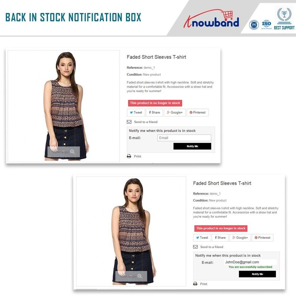 PrestaShop stock alert