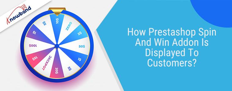 Cómo se muestra a los clientes el complemento Prestashop Spin and Win